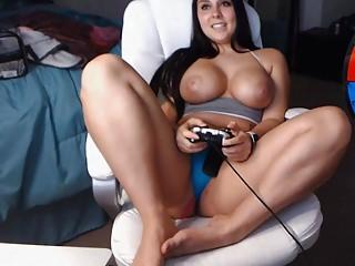 Girl Playing Video Games Big Tits
