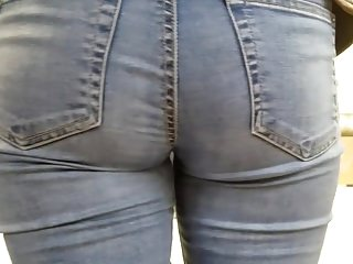 Young girls with hot asses in jeans