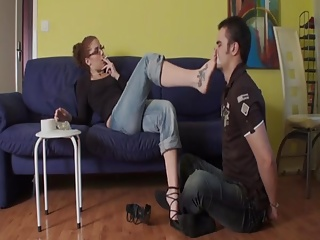 Young Mistress Foot Smelling