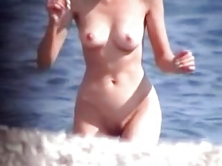 Nude babes on the beach