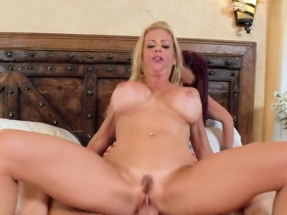 Lonely And Horny Widows Share The Hung Plumber