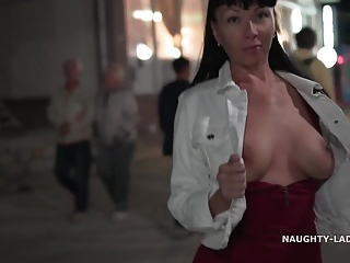 The night is a great time to flashing in public