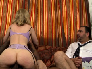 Stunning mature in stockings banged by bbc
