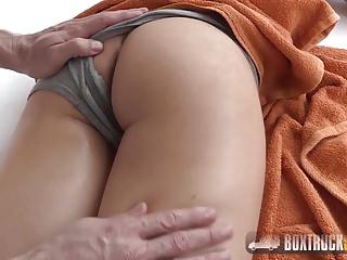 Aurelly Rebel gets a massage on her perky ass