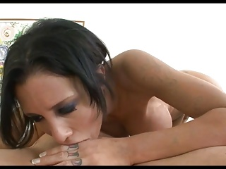 Gorgeous Brunette Slut MyN Deepthroats Some Dick