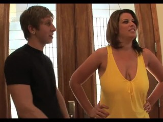 Young Boy Seduced From Big Breast Cougar