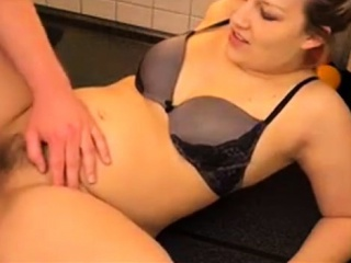 chubby milf gets fucked in the ass on kitchen table