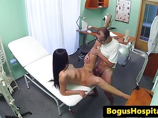 European nurse banged by doctor in office