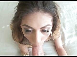 Gorgeous Brunette HV Sloppy Deepthroat Face Fuck 2 Facials