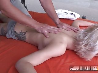 Horny Olivia Jager gets a butt massage