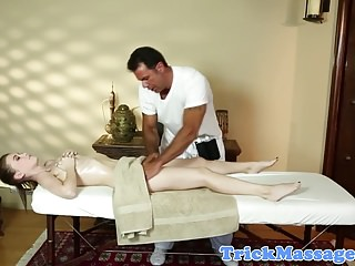 Tattooed massage amateur gagging on masseur