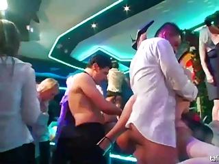 Sexual brides masturbates and fucks in public