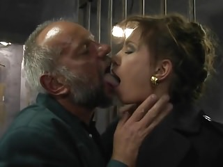 Threesome with old men