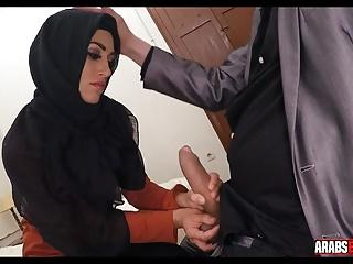 Arab sucks thick dick