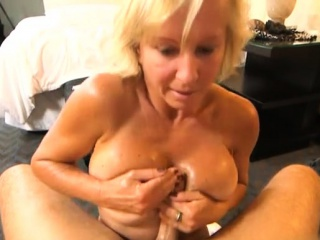 Busty milf pov with facial cum