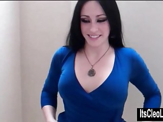 Naughty Slut Cleo Sucks Cock in the Dressing Room