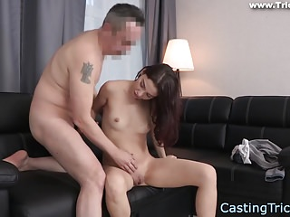 Creampied casting babe gets fucked