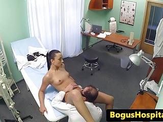Real euro nurse fucked by doctor until cum