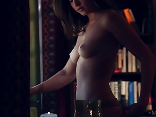 Brunette Beauty Leah Gotti Taking Off Her Clothes