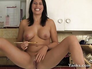 Makayla Masturbating With A Spoon