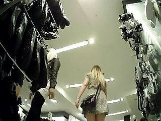 2 Upskirt Delights in Shoe Shop