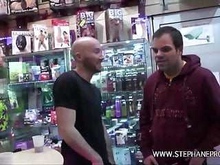 Stephane fucks prisca starlet porn in a sex shop