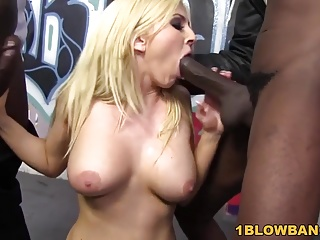 Christie Stevens Receives Facial Cumshot From BBCs