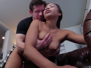 UNCLE FUCKER! Adriana Maya fucks older man. Interracial Taboo
