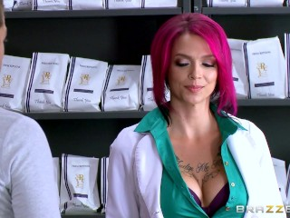 Hot inked Doctor Anna Bell loves big cock - Brazzers