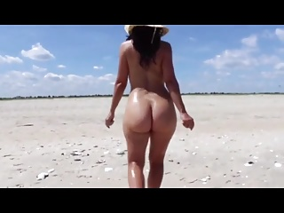 Milf on the beach