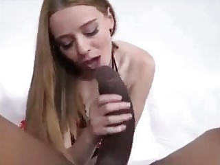 BIG BLACK COCK IS TO BIG FOR HER MOUTH