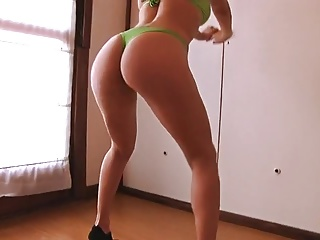 Big Ass and Busty Teen Squating All Over in Bikini