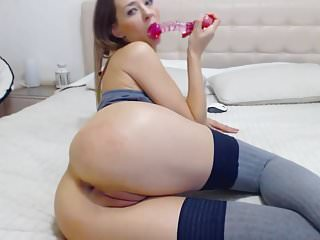 stunning sexy camgirl ATM anal dildo show