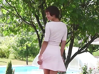 Charming Suzanna A Undressing Outdoor