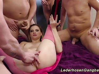 lederhosen anal groupsex orgy