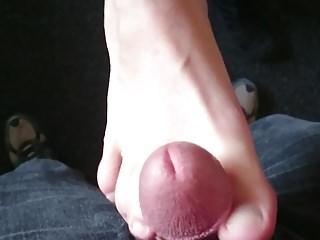 Schoen auf den Fuss gespritzt
