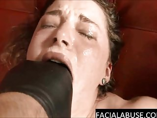 Rough face fucking deepthroat for slut with daddy issues