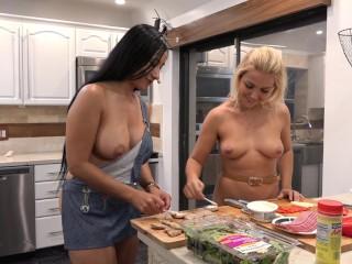 Naked kitchen 96 - Flaca & Jenny Pork Rolls