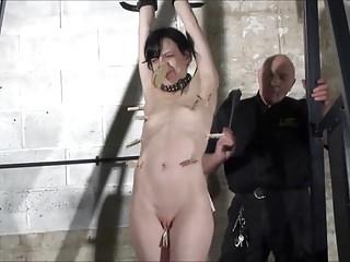 Fetish pornstar Elise Graves in fierce dungeon whipping
