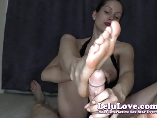Lelu Love-POV Lingerie Footjob Cum On Toes