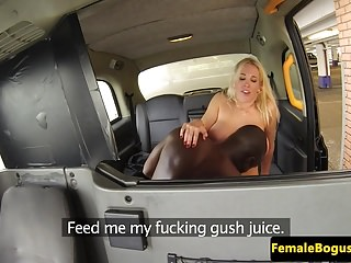 Busty british cabbie pounded by black dick