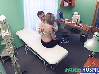 Fake Hospital Doctors bruised bollocks healed by Kazakh