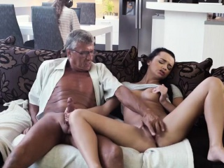Mom loves old man and have sex with young girl first time Wh