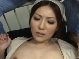 Slim asia nurse knows proper skills with a huge pecker